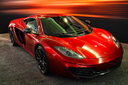 European Cars Prints - McLaren MPH-12C Sportscar Print by Wingsdomain Art and Photography