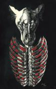 Anatomical Mixed Media Prints - McRib Print by Joe Dragt