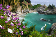 Turquoise Water Framed Prints - McWay Falls Framed Print by Brian Ernst