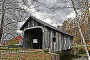 Grafton Vermont Prints - McWilliam Covered Bridge Print by DJ Florek