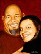 Family Love Paintings - Me and my girl by Al  Molina