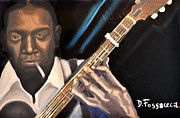 Guitar Strings Painting Originals - Me and The Devil Blues-Robert Johnson by David Fossaceca
