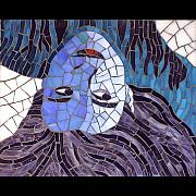 Mosaic Portrait Glass Art - Me by Christine Brallier