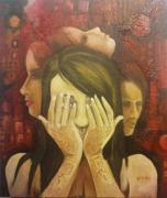 Heads Mixed Media - Me Me Me And Me by A Vimla Dindoyal
