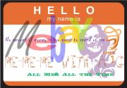 Tag Digital Art - Me-Me-Me with a G by Donna Zoll