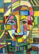 Mosaic Drawings - Me by Mindy Newman