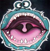 Extinct And Mythical Pastels Originals - mE sO hUNGrY  by Mara Morea