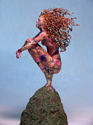 Flowers Mixed Media Originals - Meadow a sculpture by Adam Long by Adam Long