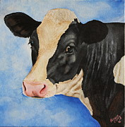 Calf Paintings - Meadow by Laura Carey
