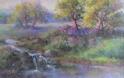 Stream Pastels Originals - Meadow Spring by Bill Puglisi