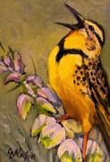 Meadowlark Paintings - Meadowlark by Carol  Nelson