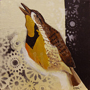 Meadowlark Paintings - Meadowlark by Curtis Ashby