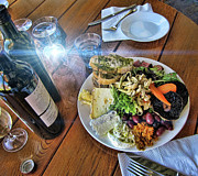 Wine Vineyard Photos - Meal -Fit for a King by Douglas Barnard