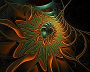 Apophysis Mixed Media - Meandering by Amanda Moore
