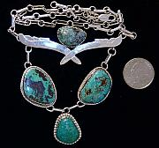 Window Jewelry - Measas Turquoise Necklace by Hal Sharpe