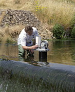 Flooding Photos - Measuring Water Levels by Paul Rapson