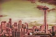Seattle Skyline Art - Meat Of Seattle by Rich Beer