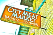 Waitress Photo Prints - Meat on the Market Print by Chuck Taylor