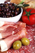 Italian Meal Photo Prints - Meat platter  Print by Jane Rix