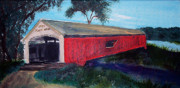 Mecca Covered Bridge Print by Andrea Harston