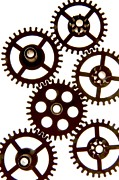 Gears Prints - Mechanism Print by Bernard Jaubert