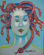 Medusa Framed Prints - Med 2 Framed Print by Jay Manne-Crusoe
