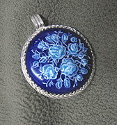 Hand Painted Pendant Jewelry - Medallion-cameo by Asya Ostrovsky