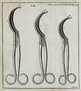 1751 Framed Prints - Medical Forceps, 18th Century Framed Print by Middle Temple Library