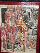 Collage Reliefs Prints - Medical Print by Francisco Magos