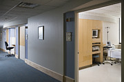 Workplace Framed Prints - Medical Room and Hallway Framed Print by Andersen Ross