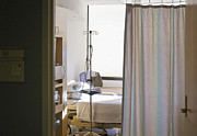 Bed Photo Framed Prints - Medical Room Bed Framed Print by Andersen Ross
