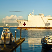 First Aid Framed Prints - Medical Ship at Port Framed Print by Eddy Joaquim