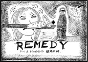 Laughzilla Drawings - Medicinal Remedy by Yasha Harari