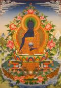 Tibetan Medicine Framed Prints - Medicine Buddha Framed Print by Art School