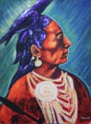 Crow Medicine Prints - Medicine Crow after E.S. Curtis Print by Art Enrico