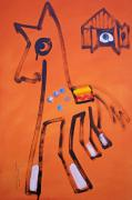 Blanket Mixed Media Prints - Medicine Horse Print by Charles Stuart