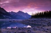 Long Shot Prints - Medicine Lake, Jasper National Park Print by Darwin Wiggett