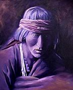 Medicine Painting Prints - Medicine Man Print by Nancy Griswold