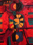 Shamanistic Paintings - Medicine Man by Robens Napolitan Tom Kramer