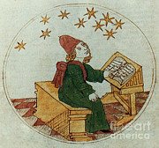 Predictions Posters - Medieval Astrologer Poster by Science Source