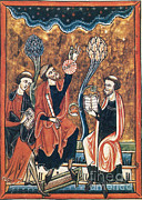 Science Source - Medieval Astronomers With Astrolabe