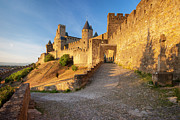 Languedoc Photo Prints - Medieval Carcassonne Print by Brian Jannsen