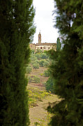 Vineyard Art Photo Prints - Medieval Church of Tuscany Print by David Letts