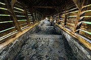 Pathway Digital Art Originals - Medieval Covered Stairway by Cosmin Nahaiciuc