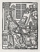 Scholarship Posters - Medieval Scholar, 16th Century Poster by Middle Temple Library