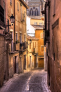 Toledo Photo Prints - Medieval Street Print by Levin Rodriguez
