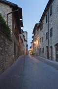 Tuscan Road Prints - Medieval Street Print by Rob Tilley