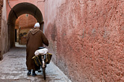 Morocco Metal Prints - Medina man Metal Print by Marion Galt