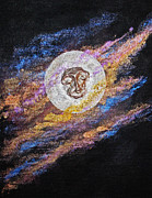 Sacred-symbol Paintings - Meditation 17 by Ellen Miffitt