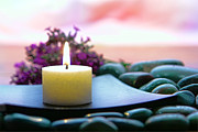 Burning Photo Posters - Meditation Candle Poster by Olivier Le Queinec